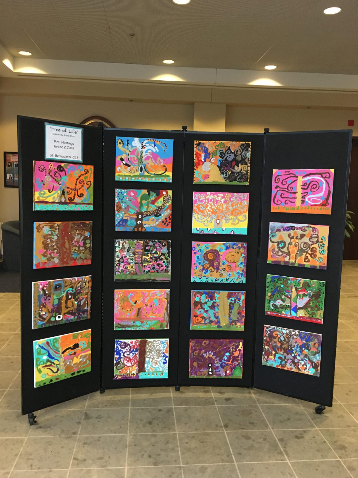 Art Display at School Board