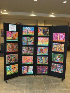 Art Display at School Board