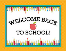 Welcome Back to School Newsletter