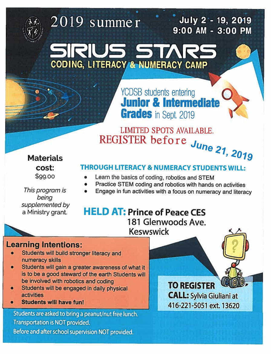 Summer Camp Sirius Stars