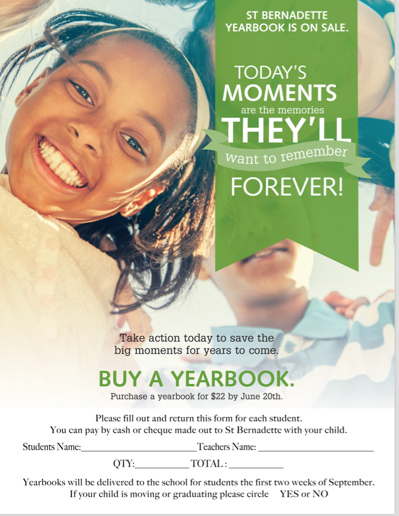 Yearbooks Now on Sale Until June 20